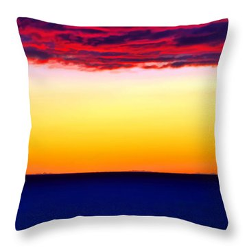 Sunset Background Throw Pillow
