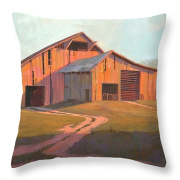 Sunset Barn Throw Pillow by Michael Humphries