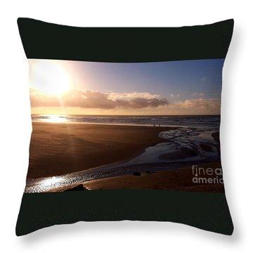 Sunset - Bastendorff Beach Throw Pillow