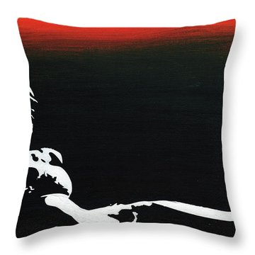 Sunset Bathing  Throw Pillow