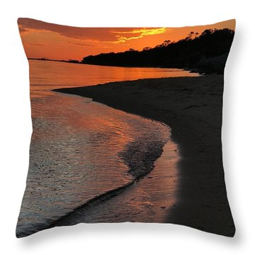 Sunset Bay Throw Pillow