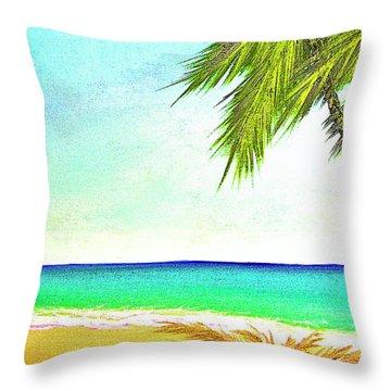 Sunset Beach #373 Throw Pillow by Donald k Hall