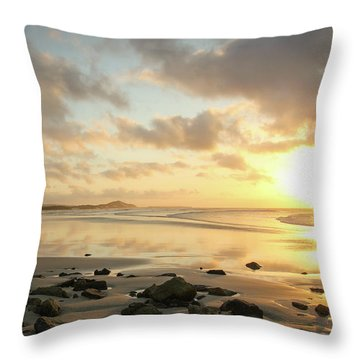 Sunset Beach Delight Throw Pillow