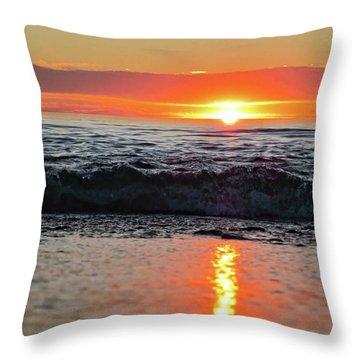 Sunset Beach Throw Pillow by Douglas Barnard