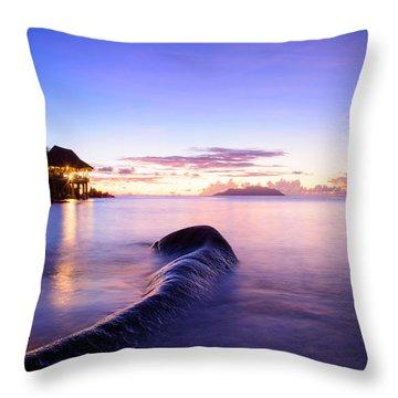 Sunset Beach Sunset Throw Pillow