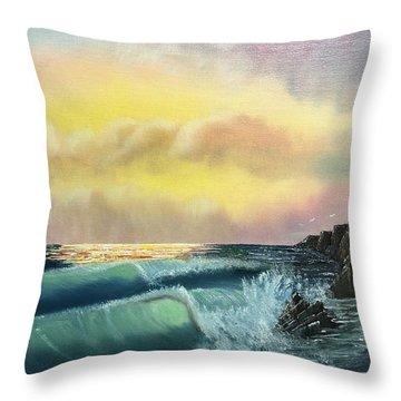 Sunset Beach Throw Pillow by Thomas Janos