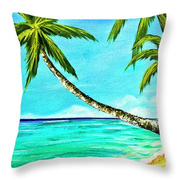 Sunset Beach#370  Throw Pillow by Donald k Hall
