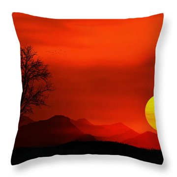 Sunset Throw Pillow by Bess Hamiti