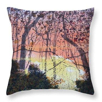 Sunset Between The Sourwoods Throw Pillow
