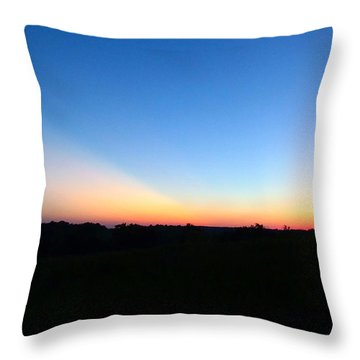 Throw Pillow featuring the digital art Sunset Blue by Jana Russon