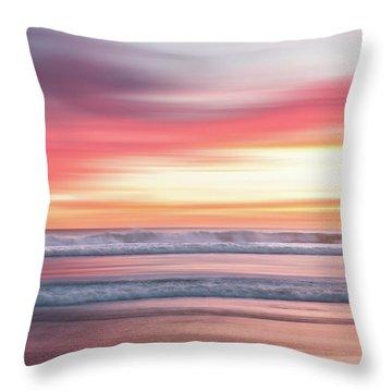 Sunset Blur - Pink Throw Pillow
