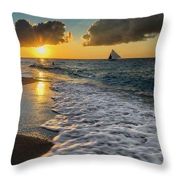 Sunset Boracay Throw Pillow