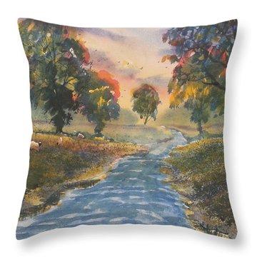 Sunset Boulevard Throw Pillow