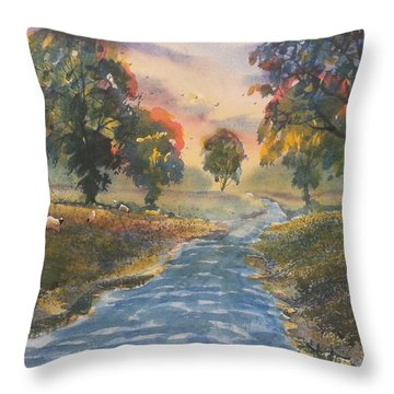 Sunset Boulevard Throw Pillow