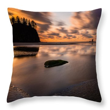 Sunset Breeze Tranquility Throw Pillow