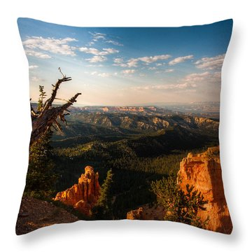 Sunset Bryce Throw Pillow by Rebecca Hiatt
