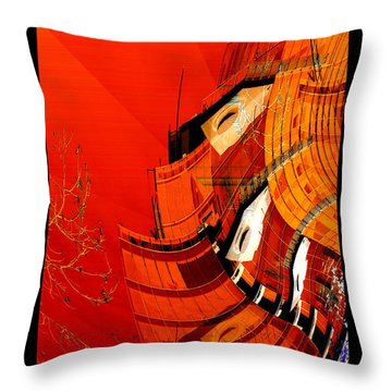 Sunset Building Throw Pillow
