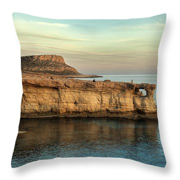 Sunset By The Cape Throw Pillow