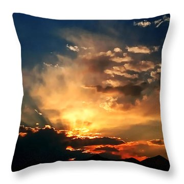 Throw Pillow featuring the photograph Sunset Of The End Of June by Zedi