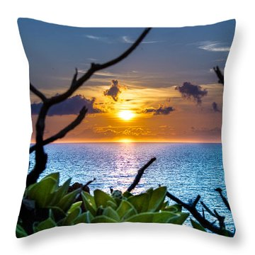 Sunset By The Point Throw Pillow