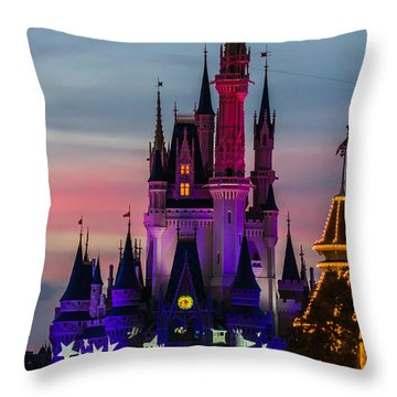 Sunset Castle Throw Pillow
