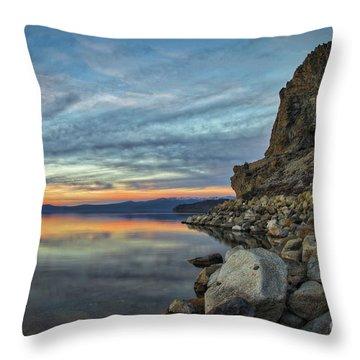 Sunset Cave Rock 2015 Throw Pillow