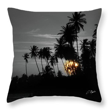 Throw Pillow featuring the photograph Sunset by Charlie Roman