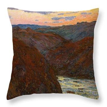 Sunset Throw Pillow by Claude Monet