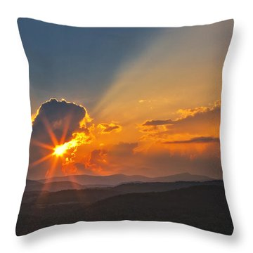 Sunset - Close Another Day Throw Pillow