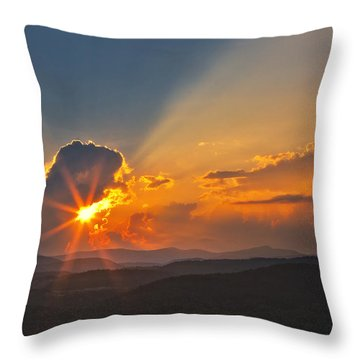 Throw Pillow featuring the photograph Sunset - Close Another Day by Ken Barrett