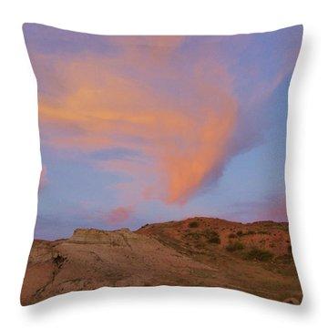Sunset Clouds, Badlands Throw Pillow