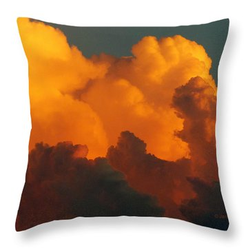 Throw Pillow featuring the digital art Sunset Clouds by Jana Russon