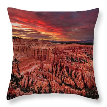 Sunset Clouds Over Bryce Canyon Throw Pillow