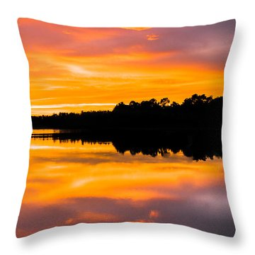 Sunset Colors Throw Pillow