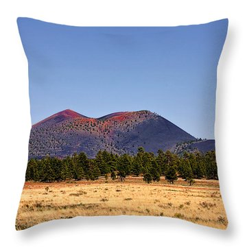 Sunset Crater Volcano National Monument Throw Pillow by Christine Till