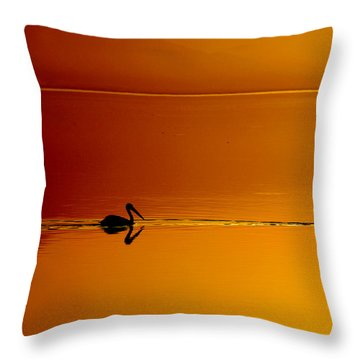 Sunset Cruising Throw Pillow