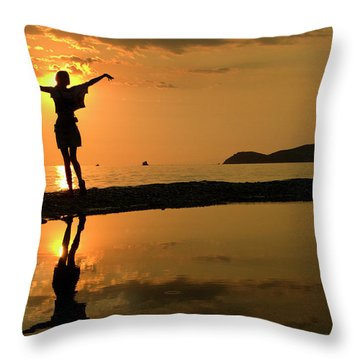 Sunset Dance Throw Pillow