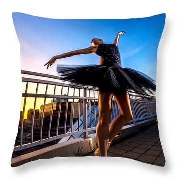 Sunset Dancer Throw Pillow