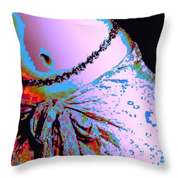 Sunset Dancing Throw Pillow by Piety Dsilva