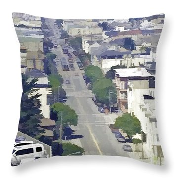 Sunset Days Throw Pillow