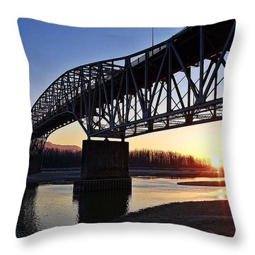Fraser River, Bc  Throw Pillow
