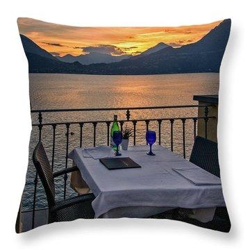 Sunset Dining Throw Pillow