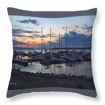 Throw Pillow featuring the photograph Sunset Dock by Felipe Adan Lerma