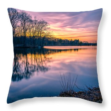 Sunset-dorothy Pond Throw Pillow by Craig Szymanski