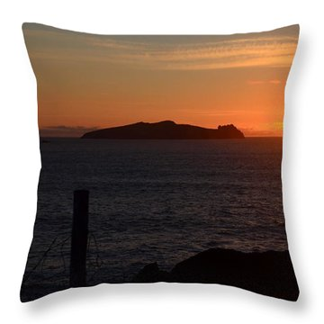 Throw Pillow featuring the photograph Sunset Dunquin by Barbara Walsh