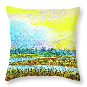 Sunset Ecstasy Throw Pillow by Joel Bruce Wallach
