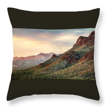 Throw Pillow featuring the photograph Sunset by Elaine Malott