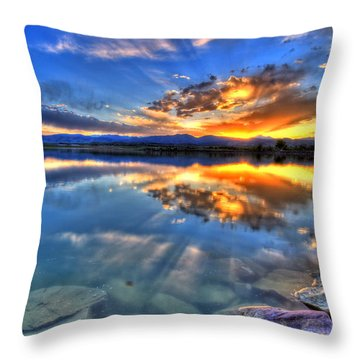 Sunset Explosion Throw Pillow by Scott Mahon