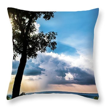 Throw Pillow featuring the photograph Sunset Explosion by Shelby Young