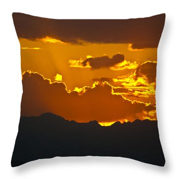 Throw Pillow featuring the photograph Sunset Fire by Colleen Coccia
